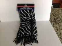 FLEECE SCARF ZEBRA PRINT in Aurora, Illinois