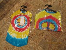 "2 Matching Doggie Tie-Dyed Peace Sign Tee Shirts By ""Casual Canine"" in Houston, Texas"