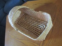 Natural Wicker Baby Doll Basket Bed Bassinet Vintage in Fort Campbell, Kentucky