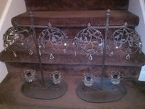 Iron / Glass Candle Holder Set in Fort Campbell, Kentucky