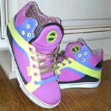Teen girls color block high top shoes in Naperville, Illinois