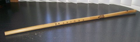 bamboo whistle flute in Yucca Valley, California