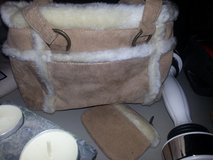Suede purse with small change wallet in Naperville, Illinois