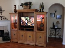HUGE Solid Wood Entertainment Center in Kingwood, Texas