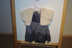 Girls holiday dress w/ mantel, bloomers. 6-12months in Baumholder, GE