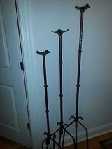 custom craft wrought iron metal 3-piece candle holder floor stand in Elgin, Illinois