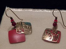 Gold/Red Earrings in Kingwood, Texas