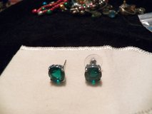 Large Green Solitaire Earrings in Kingwood, Texas
