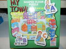 My town shaped floor puzzle in Aurora, Illinois