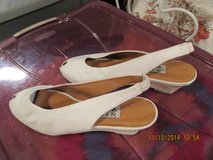 "Great Summer ""Nine West"" Sling Back White Leather Shoes - Size 8 1/2 M - REDUCED ! NEW ! in Kingwood, Texas"
