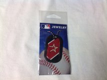 NIP Houston Astros Baseball MLB Pendant Dog Tag Necklace World Series Pitcher Catcher Altuve Bat in Kingwood, Texas