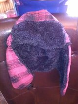 New / Pink Plaid Fur Hat in Fort Campbell, Kentucky
