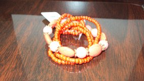 Beautiful Orange Ladies Fashion Jewelry Bracelet in Spring, Texas