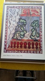 """REDUCED """"Henri Matisse Fenetre a Tahiti 1935"""" Framed -1994 Printed in France in Aurora, Illinois"""