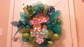 3n1 mesh wreath with led lights 26in in Fort Campbell, Kentucky