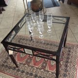 brand new coffee table with bevelled glas and mirrors on the sides in Spangdahlem, Germany