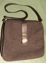 Charcoal Gray Black Wool Purse in Oswego, Illinois