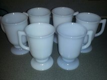 6 Vintage 1950's Milk Glass Irish mugs in Joliet, Illinois