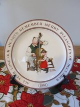 Hallmark Norman Rockwell 1981 Christmas Plate~Reduced in Yorkville, Illinois