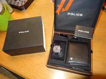 Police watch gift set with matching pen and leather wallet in Alamogordo, New Mexico