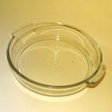 "VTG PYREX #221 ROUND BAKING PAN, 8-1/4"",  1939-50 CLEAR in Naperville, Illinois"