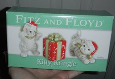 Fitz & Floyd Kitty Kringle Tumblers Christmas Decor in Houston, Texas