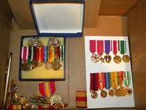 Obsolete Medal Groupings in Camp Lejeune, North Carolina