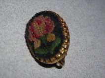 Antigue Embroidered Gold Earring in Alamogordo, New Mexico