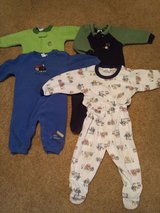 Boy's 12 month, 12 - 18 month pajamas sleeper, romper in Bolingbrook, Illinois