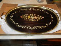 Vintage Inlay wood serving tray in Sandwich, Illinois