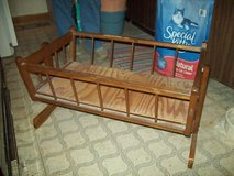 Vintage Wooden Baby/Doll Cradle in Bartlett, Illinois