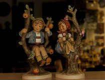 "Hummel""APPLE TREE BOY and Girl ""Figurine #141V and142V 10-1/4""high TMK 4 in Spangdahlem, Germany"