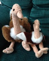 Cute and Cuddly Ostrich Momma and Baby in Wheaton, Illinois