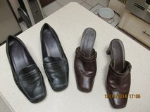Womens' Leather Shoes Size 8W (Wide) - 2 Pairs Gently Used in Kingwood, Texas