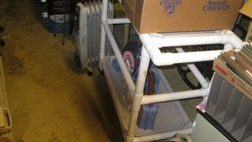 two shelf pvc cart on wheels in Fort Leonard Wood, Missouri