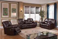 NEW 3 PC SOFA SET WITH RECLINERS in San Bernardino, California