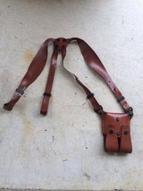 Gould &Goodrich M9 pistol mag holder and shoulder harness holster in Okinawa, Japan