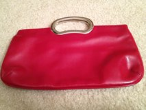 "RED 12""W Faux Leather Clutch Purse in Westmont, Illinois"