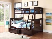 NEW ALL WOOD BUNK BED ONLY $299 in Riverside, California