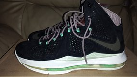 "Lebron X QS Black Suede ""Mint"" in Ramstein, Germany"