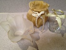 2 Gold  Vases & 1 Fancy Dish in Naperville, Illinois