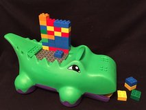 Lego Duplo Block-o-Dile alligator and with 30 Lego/Duplo blocks and building plate in Glendale Heights, Illinois