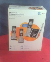 REDUCED! AT&T Dect 6.0 Digital Cordless 3 Handset Answering System in Conroe, Texas