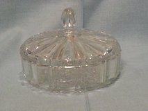 Vintage 50's Clear Glass Covered Candy Dish in Warner Robins, Georgia