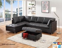 NEW BONDED LEATHER SECTIONAL ONLY in Riverside, California