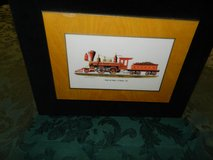 Vintage train wall hanging in Oswego, Illinois
