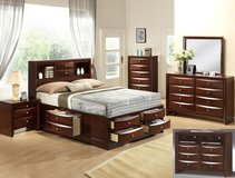 QUEEN STORAGE BED WITH MATTRESS AND DELIVERY in Fort Irwin, California