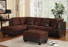 NEW CHOCOLATE SECTIONAL FREE OTTOMAN in Riverside, California