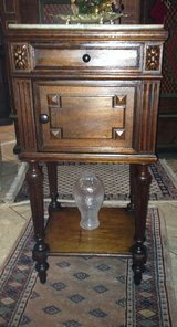 elegant French night stand with marble top in Spangdahlem, Germany