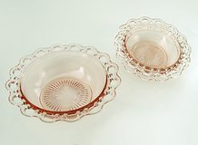 3 OLD COLONY PINK DEPRESSION GLASS BOWLS - 1 serve & 2 salad - HOCKING in Glendale Heights, Illinois
